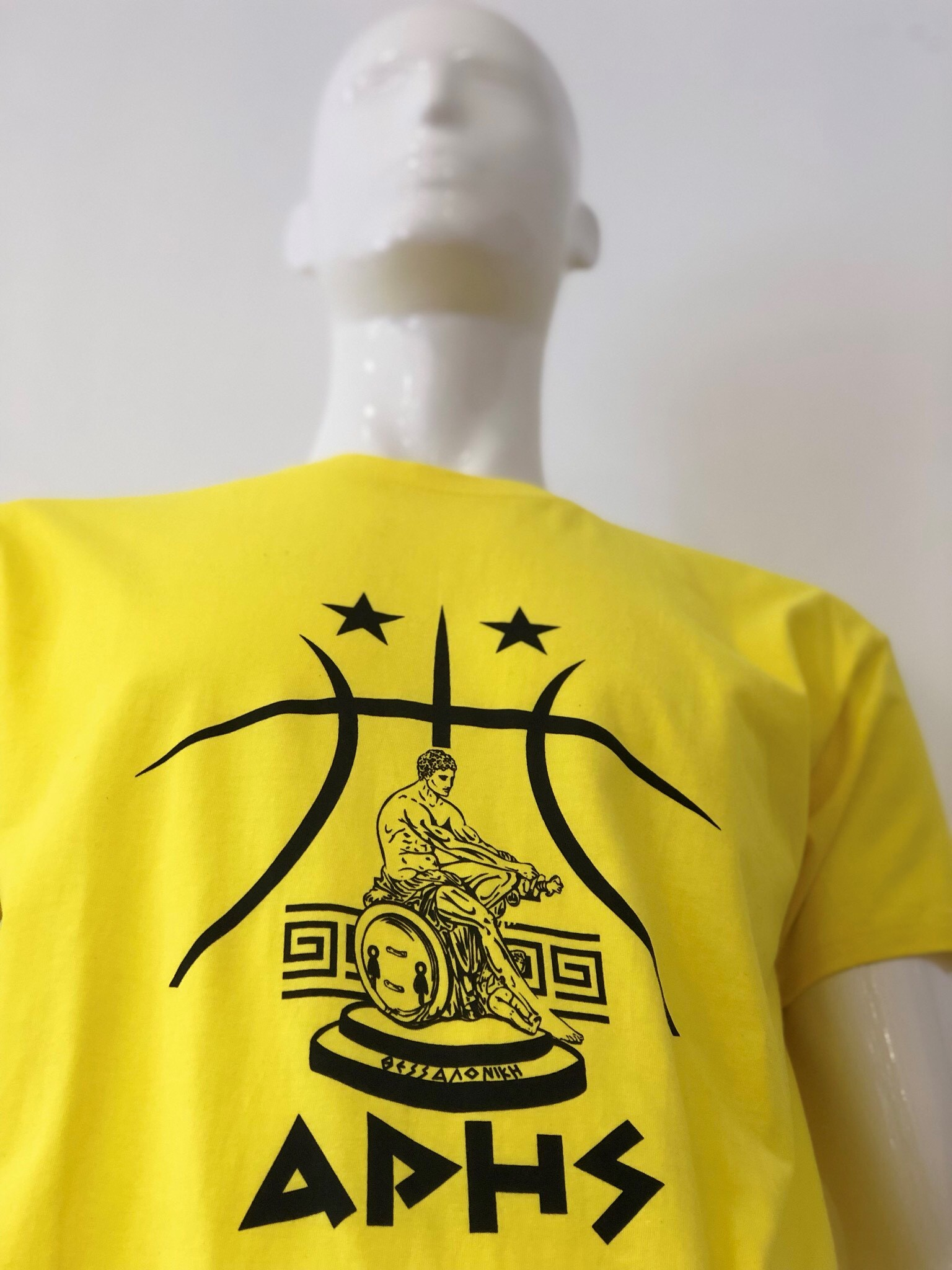 T-shirt ARIS LOGO YELLOW